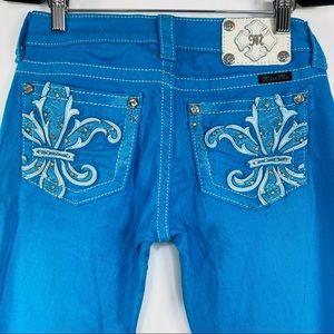 Miss Me Hawaiian blue Jeans size 27
